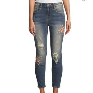 New! Miss Me Embroidered Floral Jeans